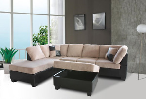 BRAND NEW SECTIONAL WITH STORAGE OTTOMAN-DELIVERY AVAILABLE