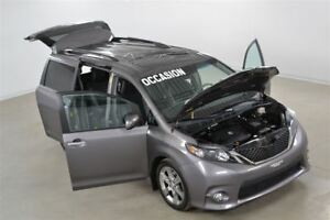 2013 Toyota Sienna SE V6 DVD x 2 Cuir/Tissus+Toit Ouvrant 8 Pass
