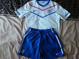 Nike Holland Netherlands Football Soccer Jersey White Away Kit w/Shorts XL Boys