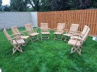Wooden Garden furniture- chairs x 8