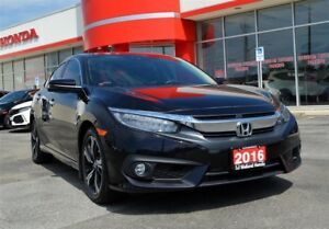 2016 Honda Civic TOURING| ONE OWNER| LOW KMS| NAVIGATION