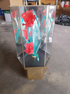 Micro Fiber Rose in Mirrored Display Case