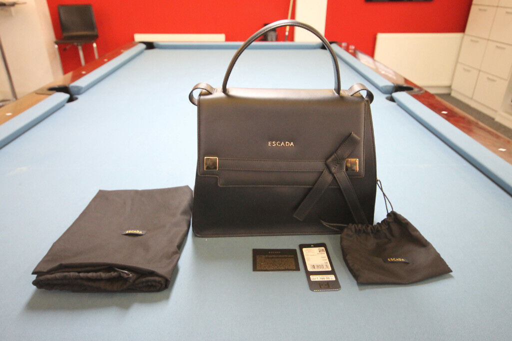 Womens Luxury Black Escada Bag Ml40 Rrp 1100 Bnwt My Price 400