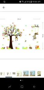 Animal themed wall decals