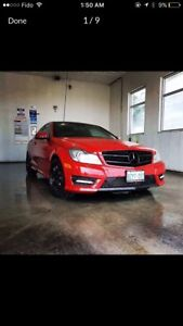 Mercedes ,C350 , AMG, Panoramic , red , coupe