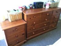 **solid pine** chest of drawers/ dresser