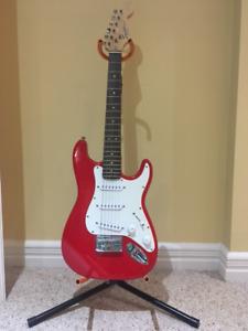 Squier Mini Strat Electric Guitar and Fender Amp