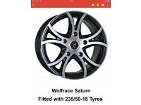 Ford transit specific SATURN alloys 18 inch brand new with 235/50-18 tyres
