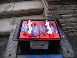Twin 6v batteries and case