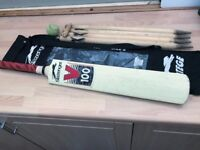 Cricket Set Slazenger V 100 Panther size:6 Bat Ball(T) Wickets x 4 Bales in BAG