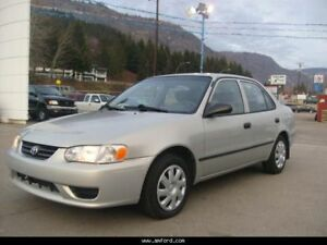 2001 Toyota Corolla Sedan (manual) $2400