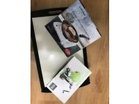 Set of kitchen tools (kettle, toaster, Moroccan teapot, Cutting board, Tray, Hot plate, Apple peeler