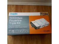 500 Mbps Maplin power line triple kit