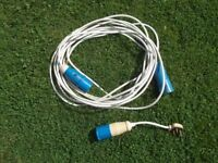 10 metre hookup cable for caravan/camping