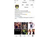 Fitwear Clothing Business for sale - including Set-up Website, Instagram, Facebook