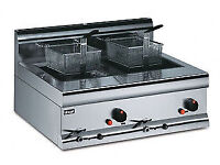 Gas LPG fryer Lincat counter top twin tank