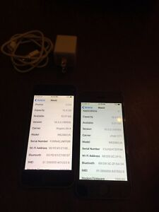 2 iPhone 5s 16gb Rogers/Chatr