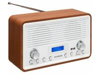 SANDSTROM DAB Radio SDR15 DAB+/FM Clock Radio - 2 x 2W Speakers - Walnut White