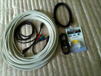 T.V. aerial cables and fittings