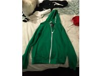 Criminal Damage men's hoodies red and green medium size