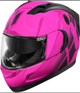 Almost new pink icon helmet