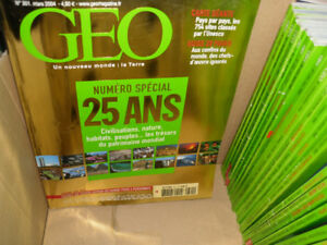 25 Geo travel magazine issues - similar to National Geographic