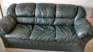 Comfy Leather Couch $225