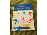Social geography: space and society.