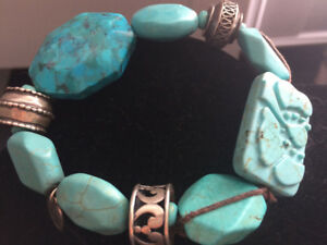 Beautiful Turquoise and Sterling Silver Bracelet