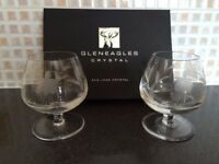 Gleneagles 24% Argyle Lead Crystal brandy glasses