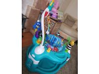 Baby playmat and walker 2 in 1