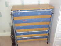 """Dico metal and wood """"put u up bed"""" for sale. Seldom used and in excellent condition"""