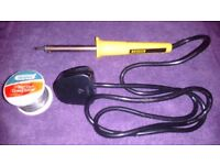 Soldering iron with flux-cored solder £5