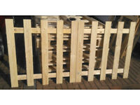 garden fence panels 41in x 41in , these can be put end to end or interlinked or stagered back to bak
