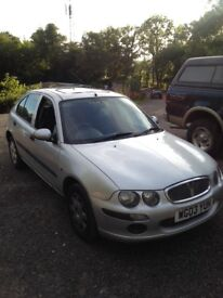 2003 Rover 25. Silver.1600cc.m.o.t. June2018.sunroof.2 owners from new.