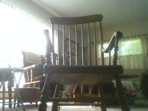 This Is A Beautiful Antique Rocking Chair.