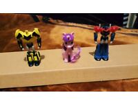 Large kinder surprise egg toy x3 easter egg transformer and my little pony