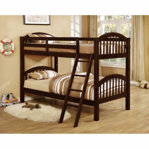 Hardwood Solids Constructed Twin Over Twin Bunk Bed Clearance
