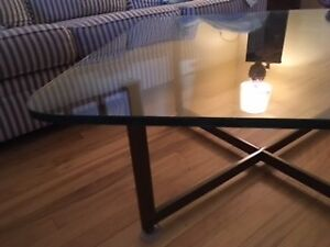 Gorgeous glass table 1974