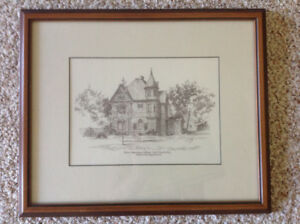 Picture of Peter Robinson college custom framed in  1986