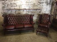 Vintage Chesterfield Highback Suite