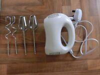 Electric Hand Mixer-5 speeds-white
