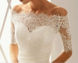 Lace bolero wedding dress jacket
