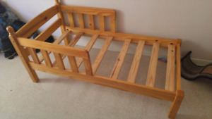 Toddler wooden bed frame