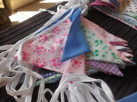 Floral mixed bunting approx 50 metre