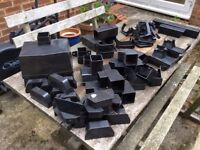 Black Osma Sqareline Gutter and Pipe fittings.