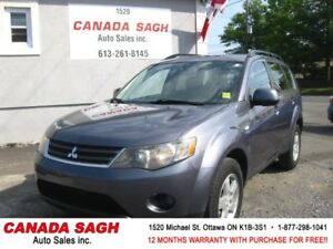 2007 Mitsubishi Outlander AUTO/ROOF/152km, 12M.WRTY+SAFETY $5490