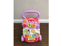 Vtech Girls First Steps Baby Walker, vgc