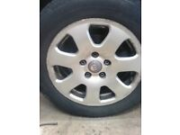"""AUDI A4 ALLOYS T4 CAMPER 15"""" WITH TYRES"""