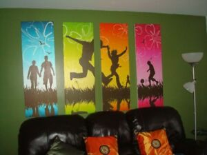 4-Piece Set of Contemporary Pictures for Wall (Kentville)